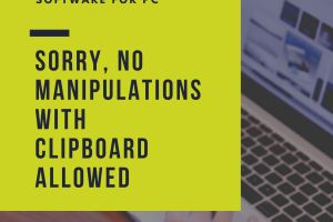 sorry, no manipulations with clipboard allowed 1