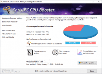 Chris-PC CPU Booster 1.14.14 + Crack Latest Version Free Download