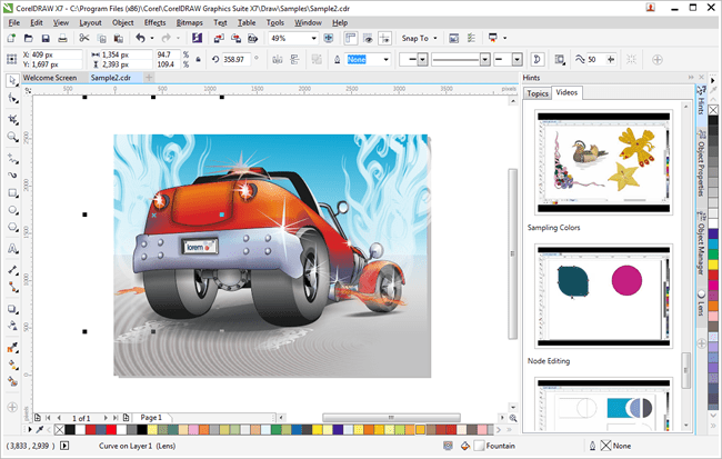 CorelDraw Graphics Suite X7 toy editing work