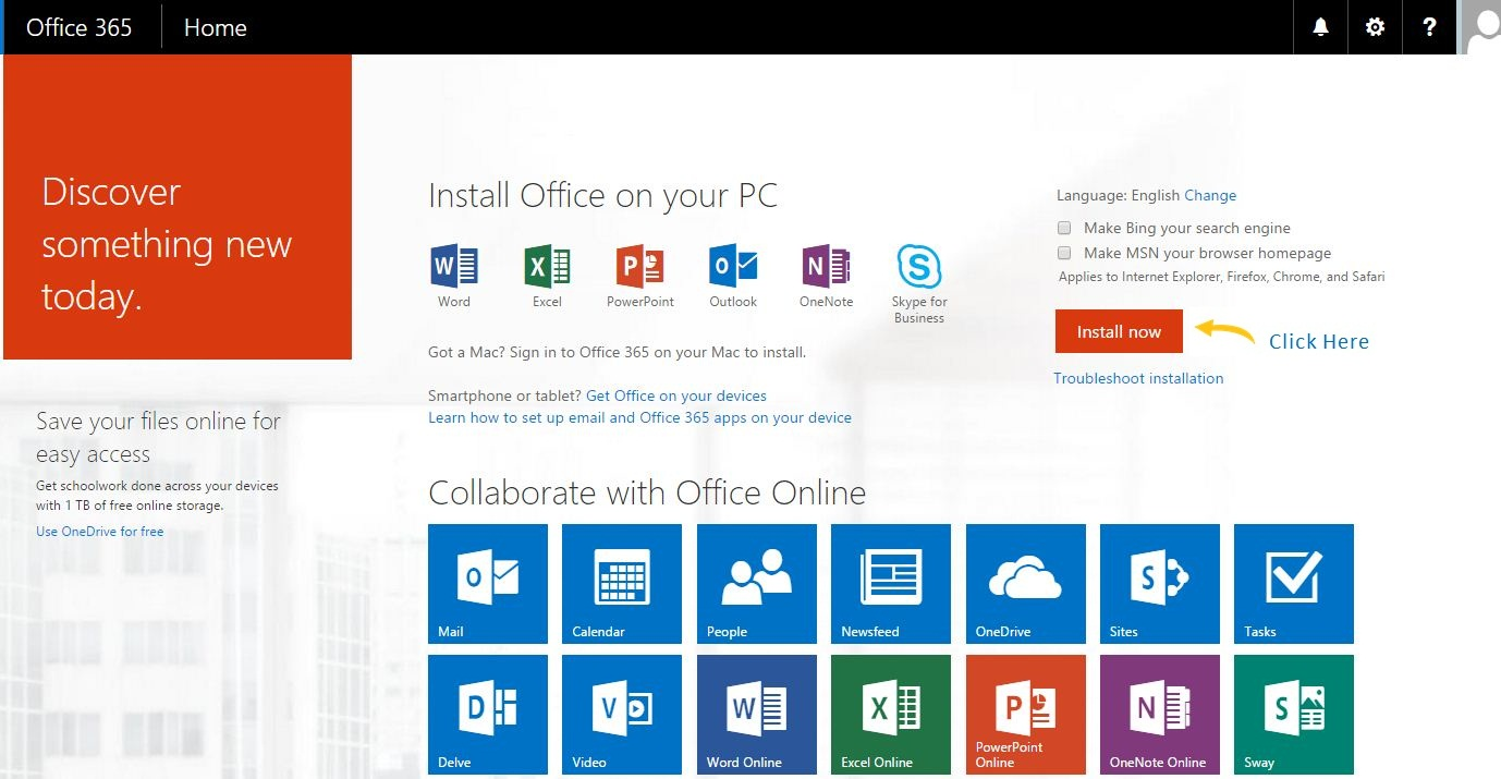 Microsoft Office 365 Pro Plus discover