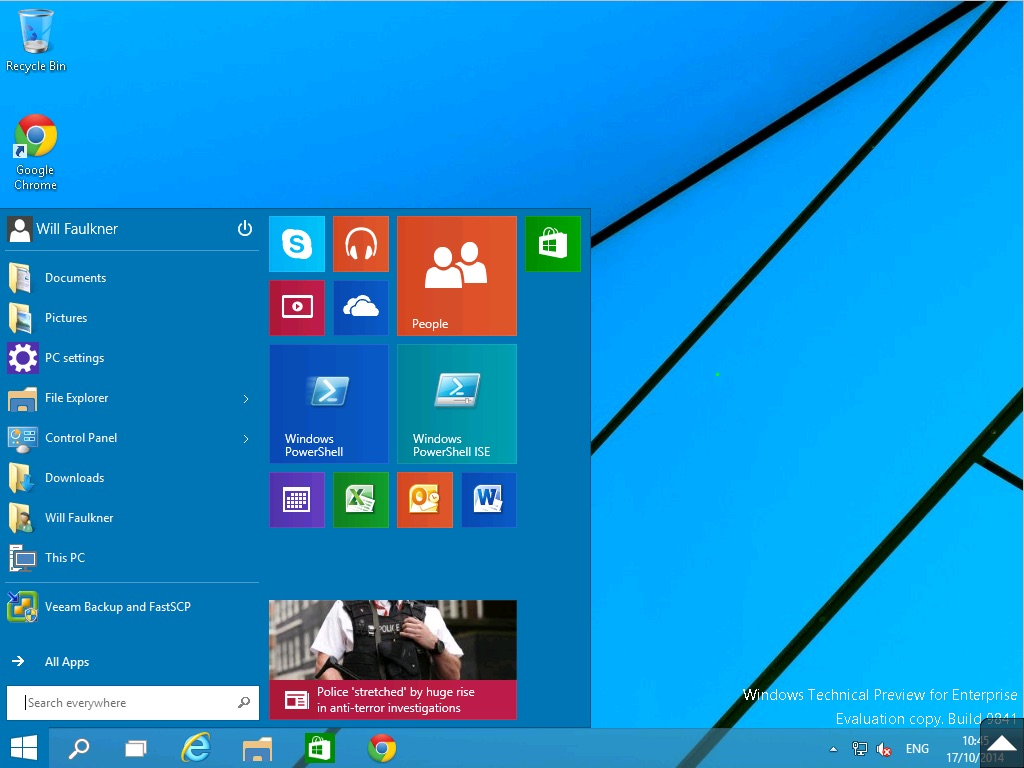 Windows 10 Enterprise another desktop