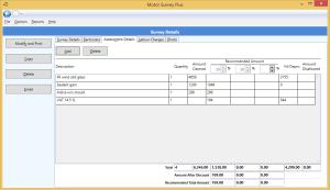 Assessment details entry screen