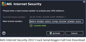 AVG Internet Security 2017 Crack Serial Keygen Full Free Download