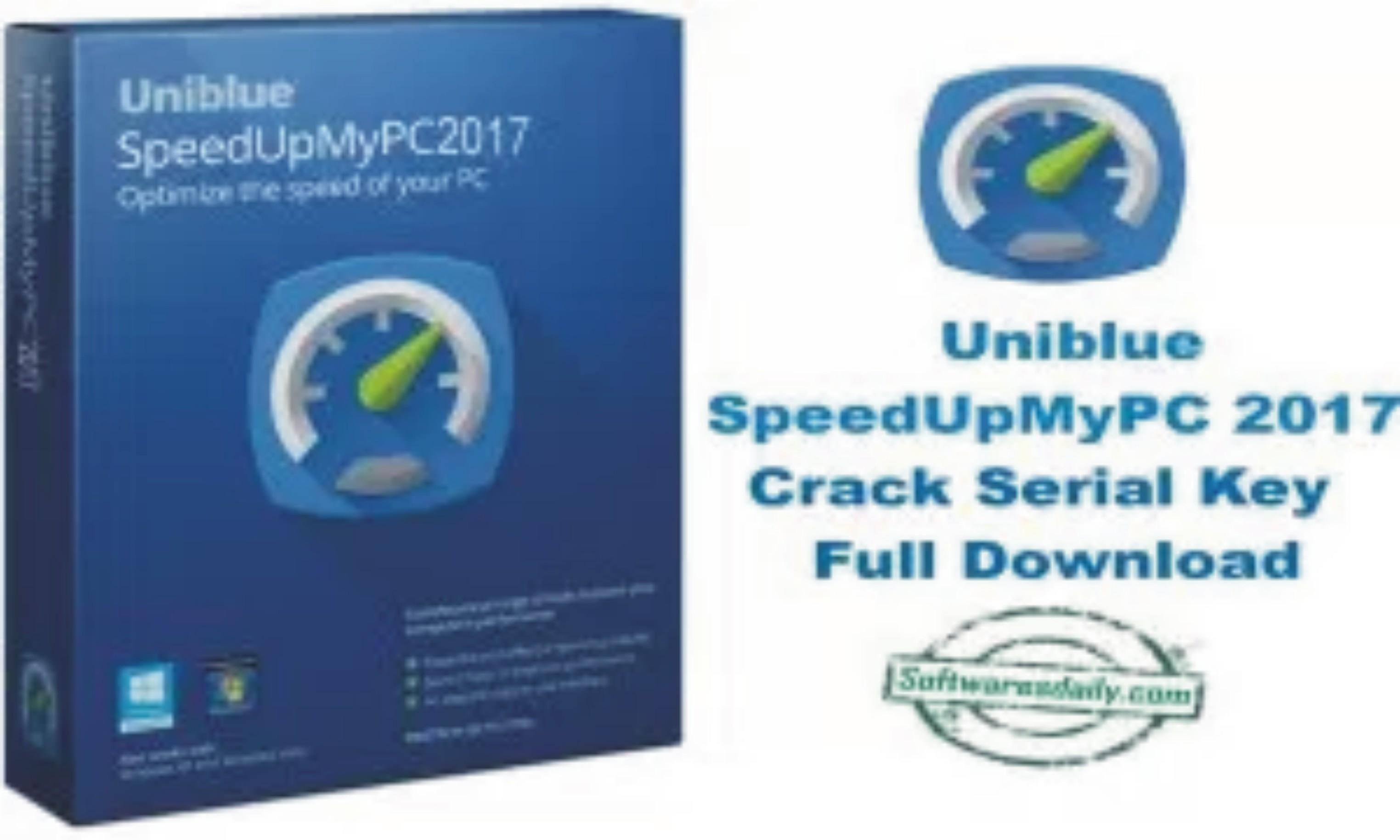 Uniblue SpeedUpMyPC 2017 Crack Serial Key Full Download