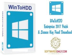 WinToHDD Enterprise 2017 Patch & License Key Final Download