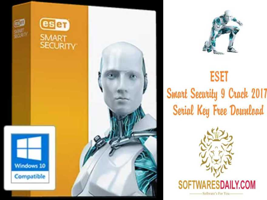 ESET Smart Security 9 Crack 2017 Serial Key Free Download