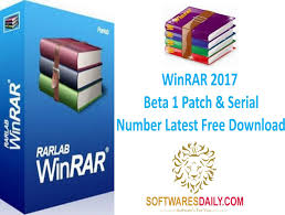 WinRAR 2017 Beta 1 Patch & Serial Number Latest Free Download