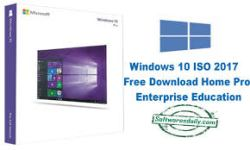 Windows 10 ISO 2017 Free Download Home Pro Enterprise Education