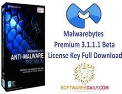 Malwarebytes Premium 3.1.1.1 Beta License Key Full Download