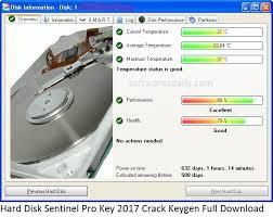 Hard Disk Sentinel Pro Key 2017 Crack Keygen Full Download