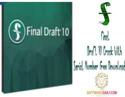Final Draft 10 Crack With Serial Number Free Download