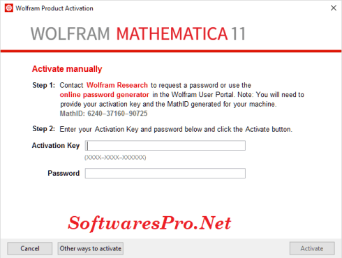 activation key for mathematica 11.3