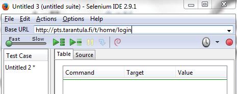 Selenium IDE Login Script