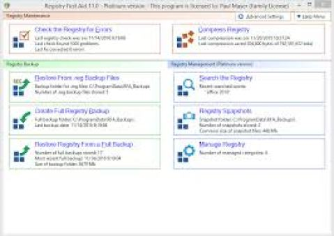 Registry First Aid Platinum 11.3.0 Build 2581 with Crack Free Download