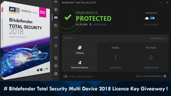 Bitdefender Total Security 2018 Crack + Activation Key Free Download
