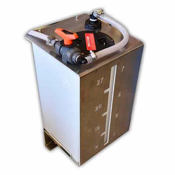 metering saddle tank plant wash