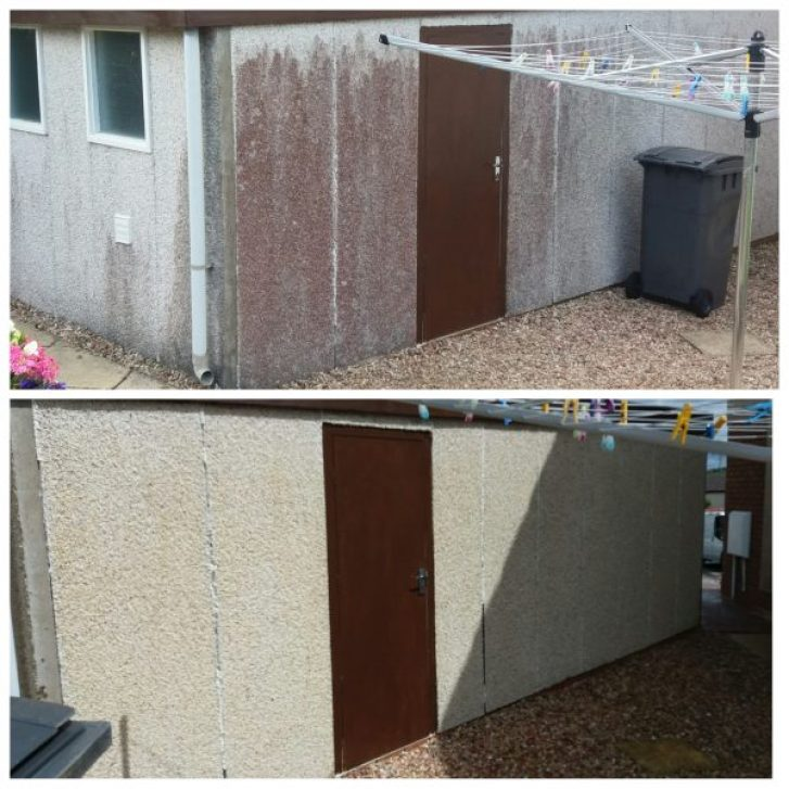 Roughcast cleaning scotland image www.softwashscotland.com