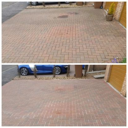 Driveway Cleaning & Oil Patch Removal Deer Park Livingston West Lothian.