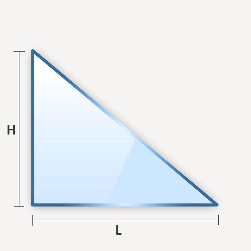 miroir en triangle rectangle