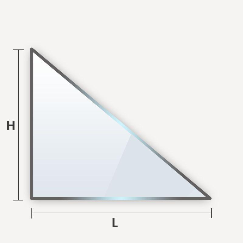 verre trempe en triangle rectangle