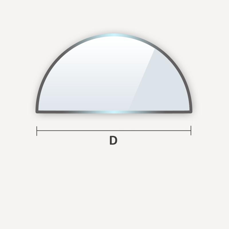 etagere en verre trempe demi cercle