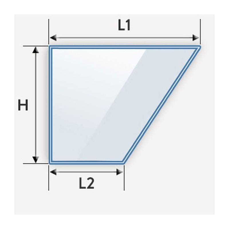 verre feuillete en biais