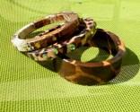 Bracelets africains en bois