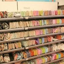 Des coupons de tissu