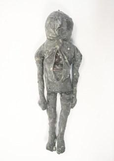 Latex textile taxidermy troll figure.