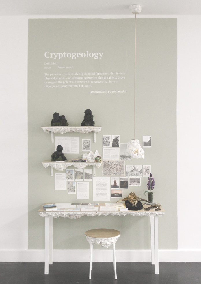 Cryptogeology study space exhibition at Bath Spa Universities Degree Show.