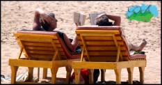Together we read , under the sun!