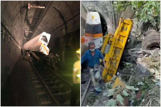Hiện trường vụ tàu hỏa đâm vào đường hầm ở Đài Loan, hé lộ nguyên nhân hi hữu  - Ảnh 3.