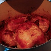 Helstekt kylling i jerngryte
