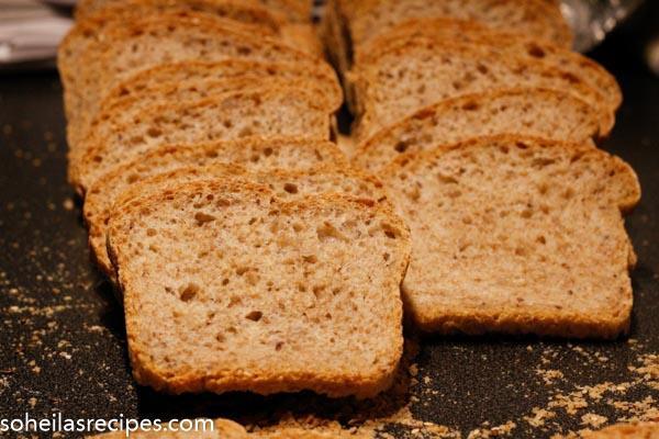 Halvgrovt brød til matpakke