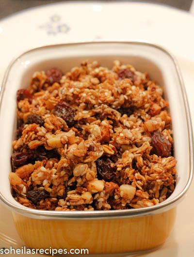 Hjemmelaget granola med quinoa