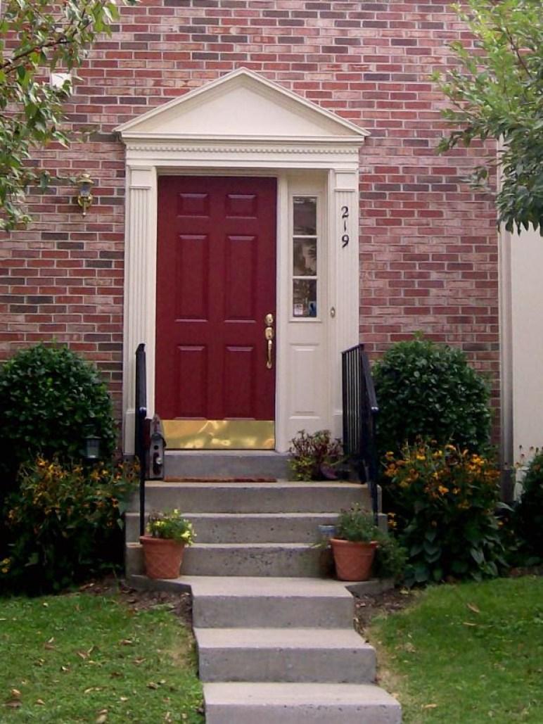 Inviting red front door