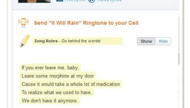 it will rain bruno mars lyric