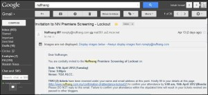Nuffnang invitation for movie screening