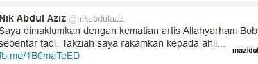tok guru nik aziz tweet