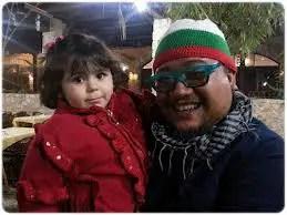 afdlin shauki bersama kanak-kanak perempuan palestin