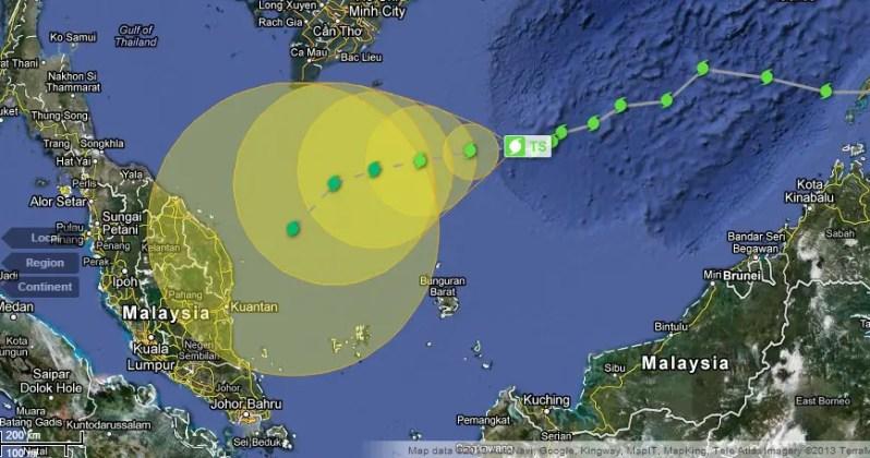 Lagi gambarajah Ribut Tropika Sonamu.