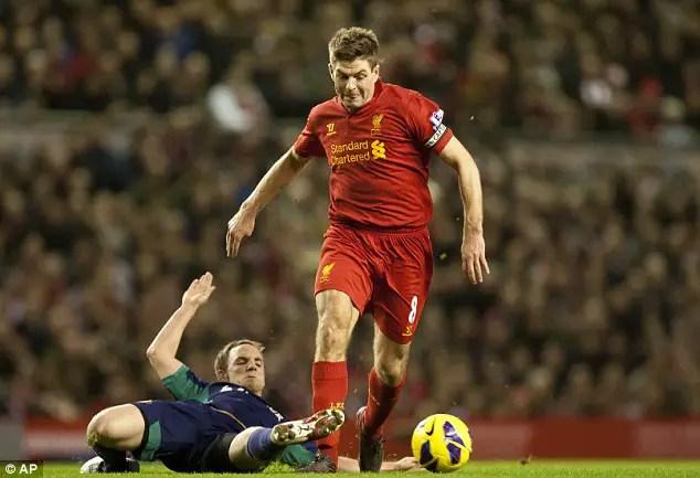 Hantaran daripada Steven Gerrard masih lagi memukau