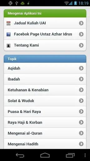 Applikasi Ustaz Azhar Idrus 2