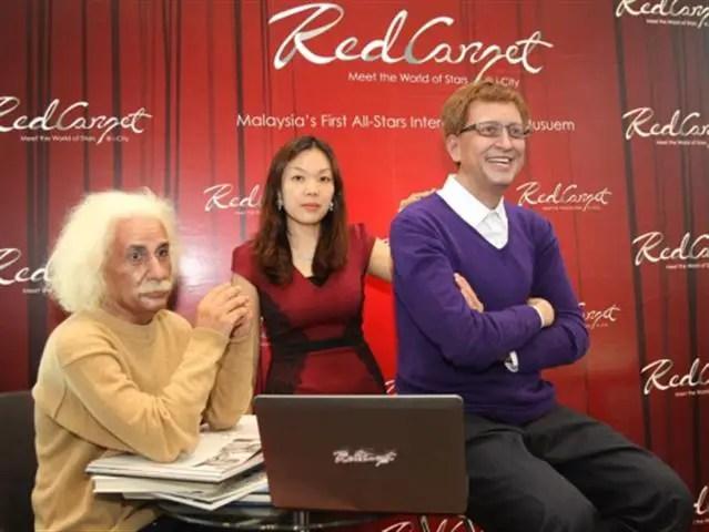 The Red Carpet muzium lilin i-city shah alam - Albert Einstein
