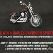 menang motorsikal harley davidson dengan menonton vikings