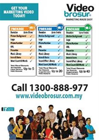 pakej Video Brosur