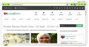 gambar screen shot blog klinik cinta