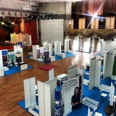 ruang pameran Sector Fokus Career Fair