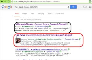 tempat teratas enjin carian google