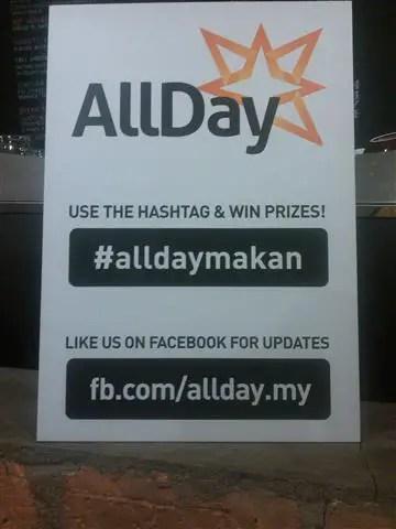 Hashtag #AlldayMakan dan #MukhaTTDI digunakan